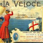 Emigrazione pubblicità di una società di navigazione dell'epoca
