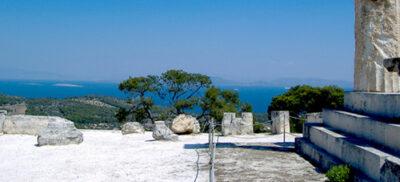 Scorcio tempio Aphaia Golfo Saronikos