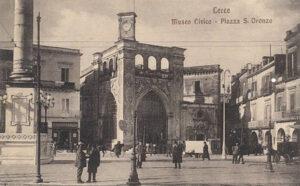 Cartolina Lecce primi anni 1900 Museo Civico Sedile