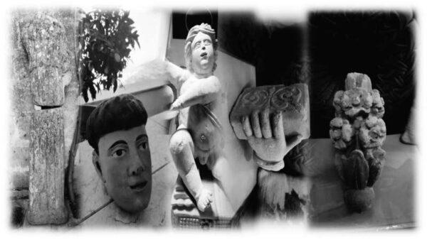 Resti ritrovati di statua