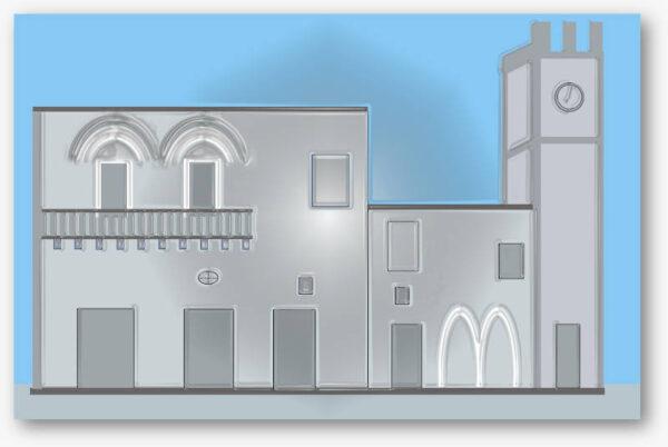 Grafica di Palazzetto medievale e torre civica