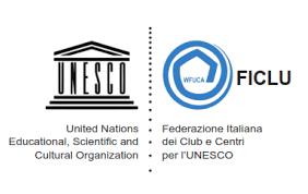 Da un sogno ai Club UNESCO. Logo della Federazione Italiana dei Club e Centri per l'UNESCO.