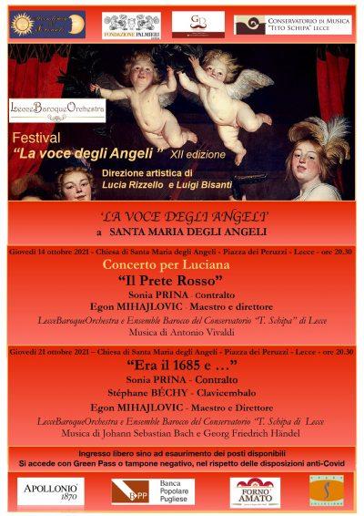 """Il Festival di musica barocca """"La voce degli Angeli"""", quest'anno giunto alla sua XII edizione"""