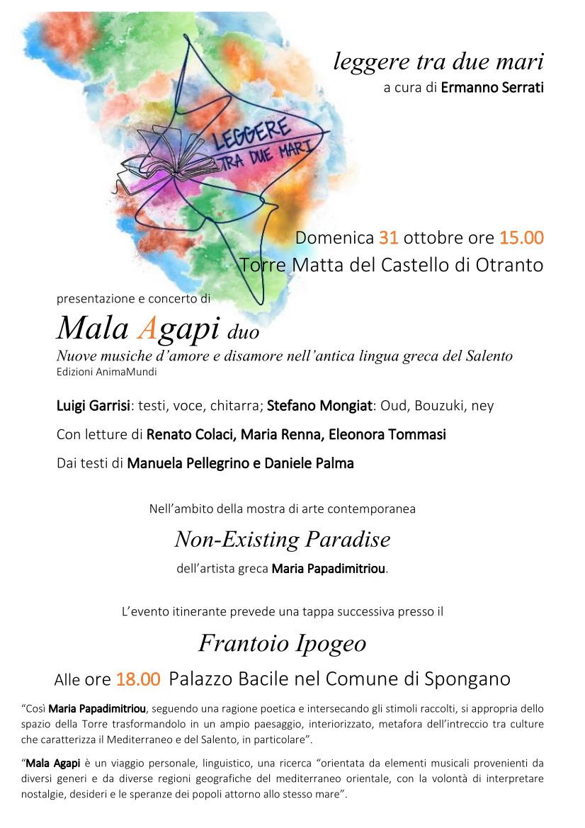 Mala Agapi-evento-31 ottobre Castello di Otranto